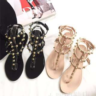 [PO] Studded Strappy Gladiator Sandals Shoes