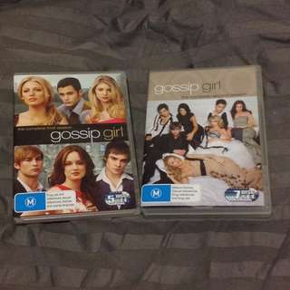 Gossip Girl complete season 1 & 2 DVD movies
