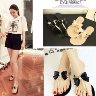 [PO] Ribbon Bow Sandals Shoes