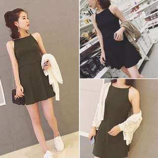 [PO] Halter Neck Minimalist Skater Dress