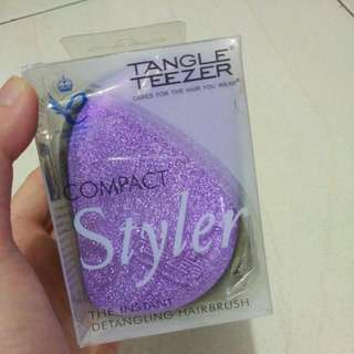 Tangle Teezer Compact Styler Purple Glitter Limited Edition
