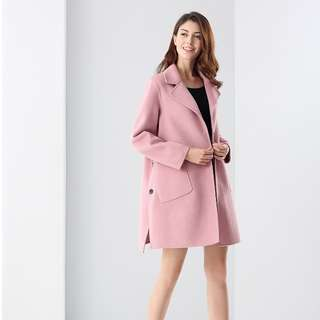 PREMIUM Range, Unique side-slit buttons details, cashmere woollen long coat (SGD328)