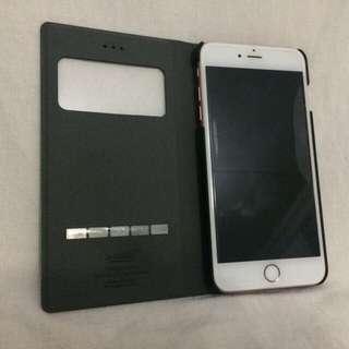 Black Pho-Leather Windowed iPHone 6+ / 6S+ Flip Wallet Case (BN, Unused)