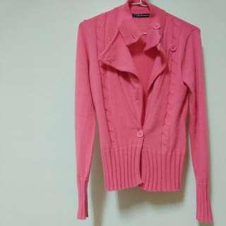 粉桃紅造型外套
