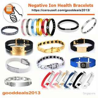 Trendy Negative Ion Health Bracelets