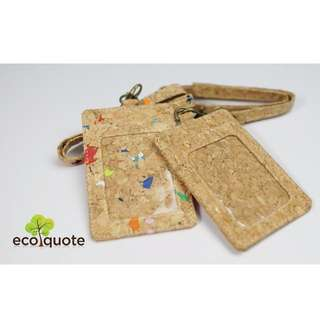 EcoQuote Lanyard with Nametag Handmade Cork Material