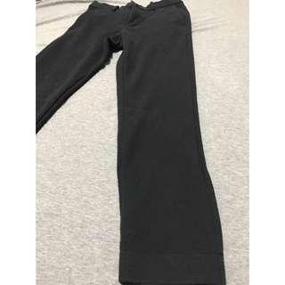 Uniqlo 男 米蘭羅紋束口褲 黑色 S號 (27-30腰著用)