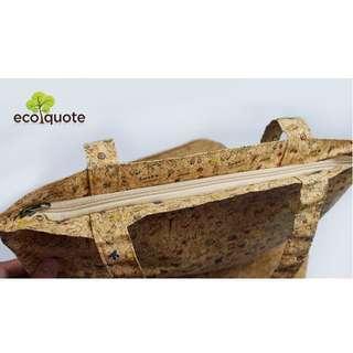 EcoQuote Tote Bag Handmade Cork Material