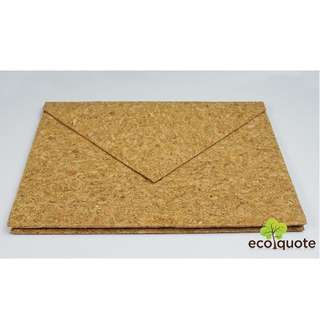 EcoQuote Envelope Handmade Cork Material