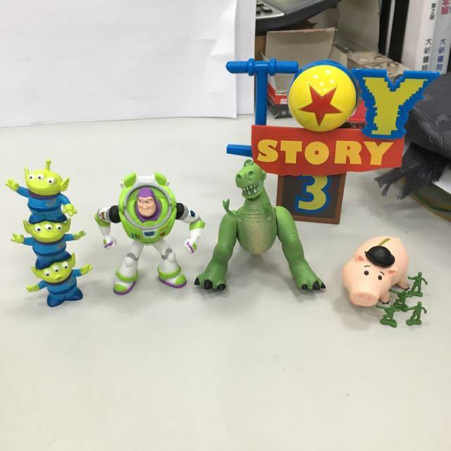 正版日本扭蛋迪士尼玩具總動員公仔玩具