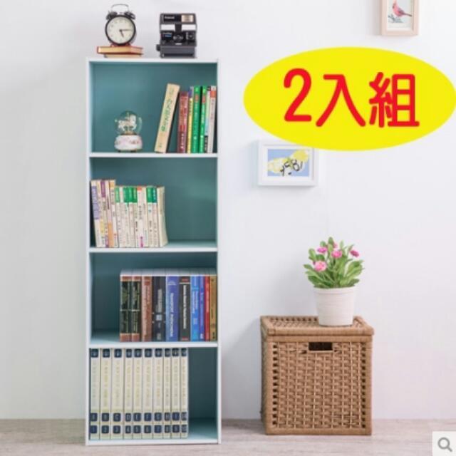 (兩入組)四格書櫃/收納櫃/四空櫃