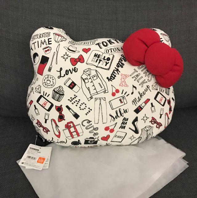 東京直送 日本限定 Hello Kitty靠枕 枕頭 抱枕 椅墊