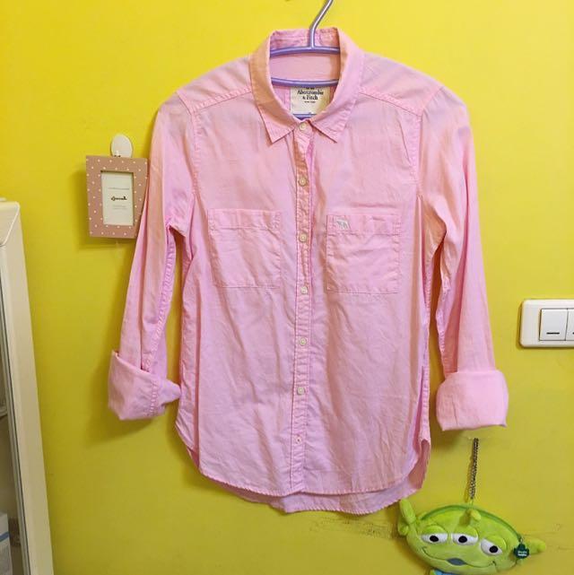 Abercrombie&Fitch粉色襯衫-XS