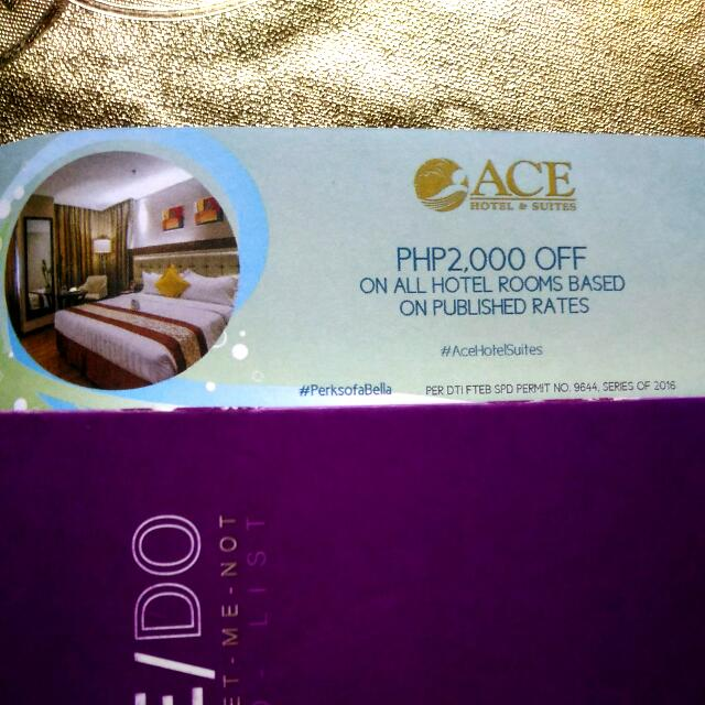 Repriced Ace Hotel 2000php Off