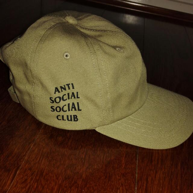 Anti Social Social Club WEIRD CAP KHAKI AUTHENTIC