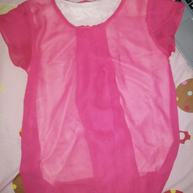 Baju Pink Polos