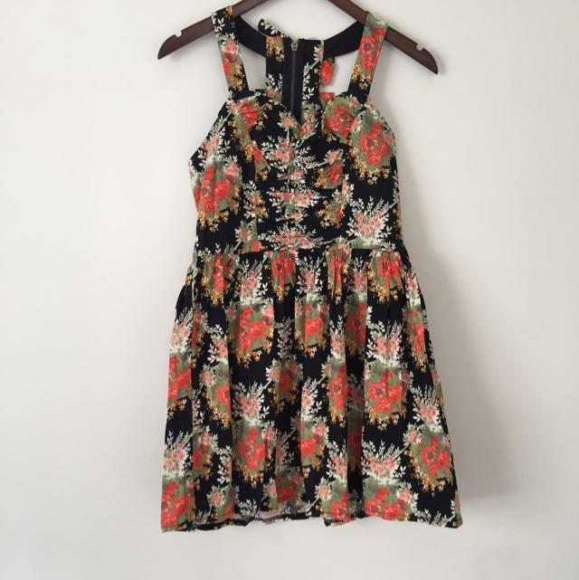 Black & Floral Dress