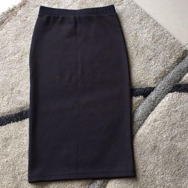 Black Pencil/Midi Skirt