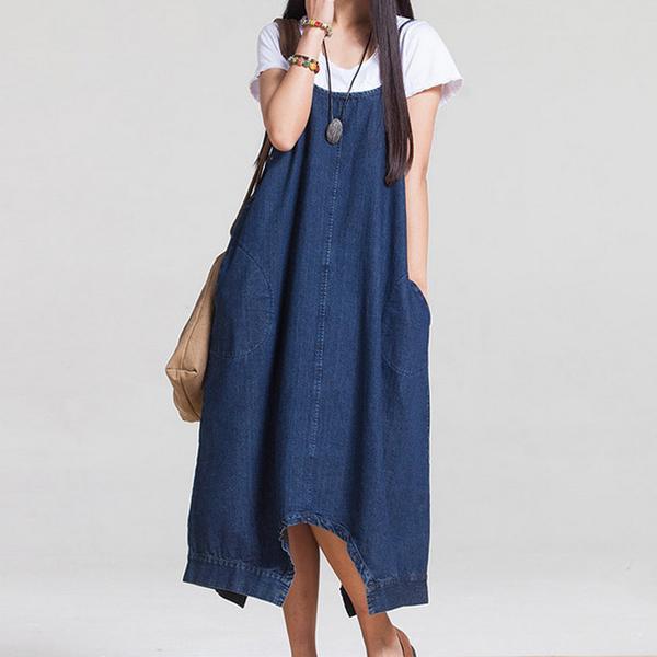 d2843eb7f330e Brand New* Trendy Denim Two Piece Pinafore Maternity Dress Jumpsuit ...