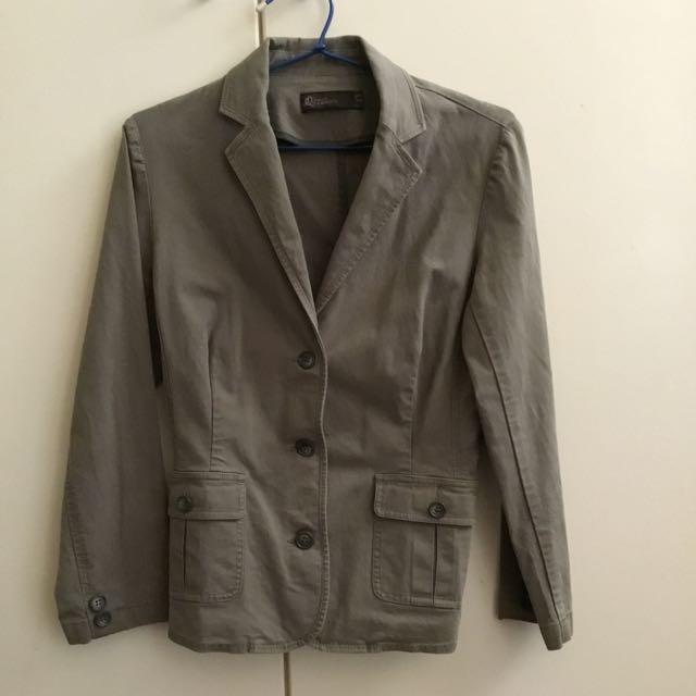 David Lawrence Cotton Khaki Blazer Jacket Size 10