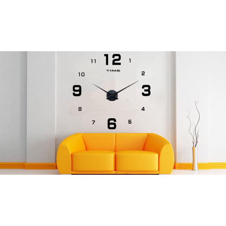 DIY Giant Wall Clock 80-130cm Diameter - ELET00660   Jam Dinding - Black 262517596c
