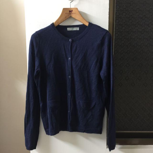🔴二手E-WEAR藍色針織小外套