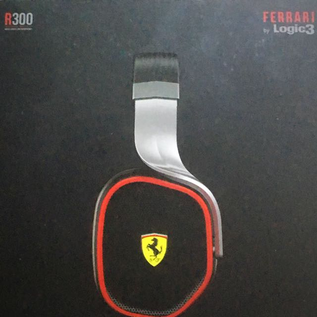 Ferrari Logic R300 over the head cable headphones black/silver *PRICE REDUCTION*