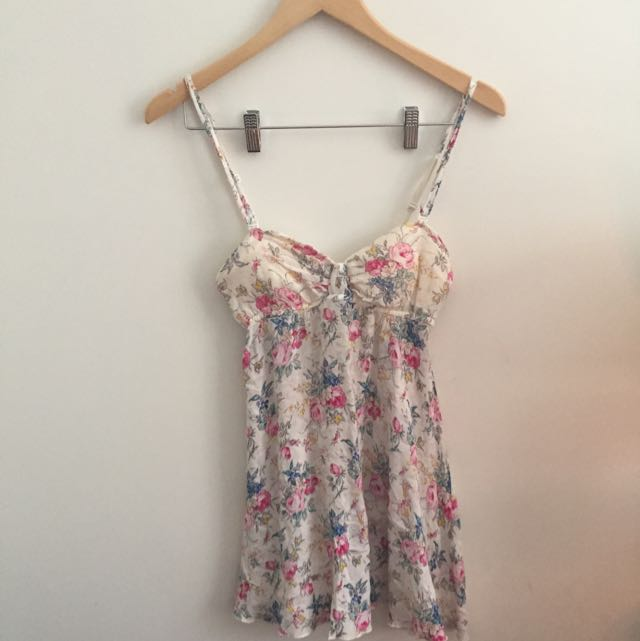 Floral Spaghetti Strap Mini Dress