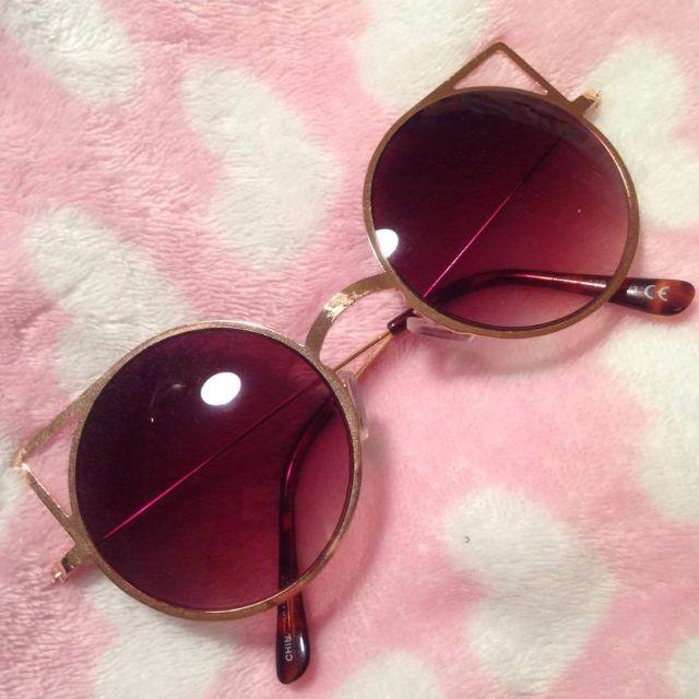 Forever 21 Gold Cat Ears Sunglasses