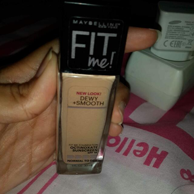 MAYBELLINE FIT ME FOUNDATION Dewy+Smooth (125 NUDE BEIGE)