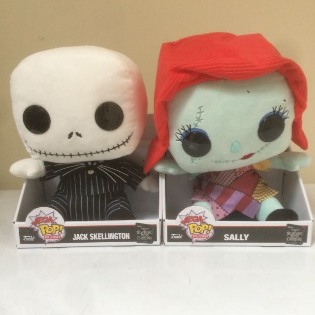 Funko Mega Pop Plush Nightmare Before Christmas Jack Skellington And Sally