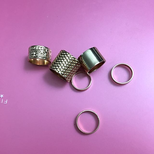 Gold Plated Stackable Rings