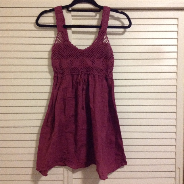 Grape purple boho summer dress