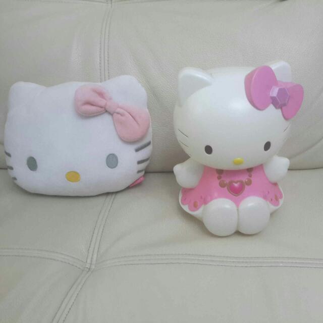 正版Hello Kitty商品 抱枕 存錢筒