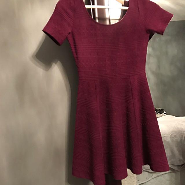 H&M Burgundy Dress