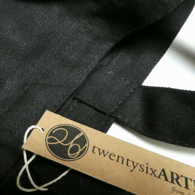 ARTE Classic Canvas Tote Bag | Black