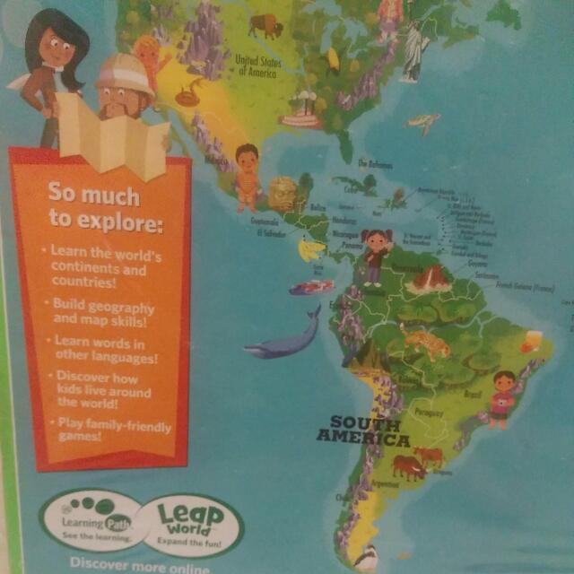 Leap frog leapfrog interactive world map tag reading system bnib leap frog leapfrog interactive world map tag reading system bnib toys games bricks figurines on carousell gumiabroncs Choice Image