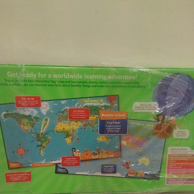 Leap frog leapfrog interactive world map tag reading system bnib leap frog leapfrog interactive world map tag reading system bnib toys games bricks figurines on carousell gumiabroncs Gallery