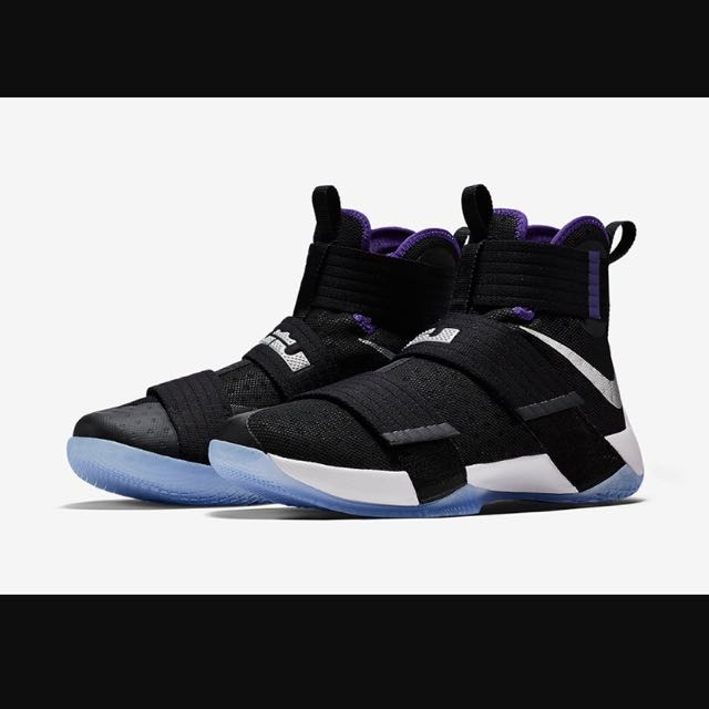 superior quality aa240 b9d21 Lebron Soldier 10 Court Purple