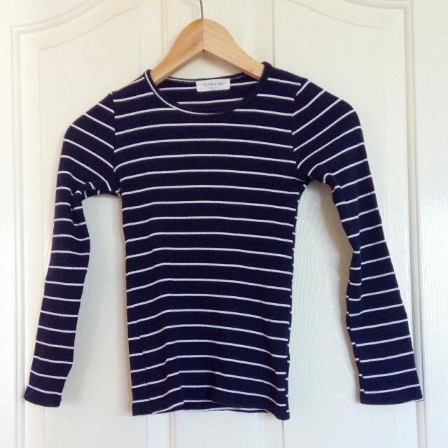 Navy Blue Top Size 6