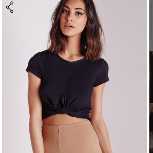 Misguided Knot Crop Tops