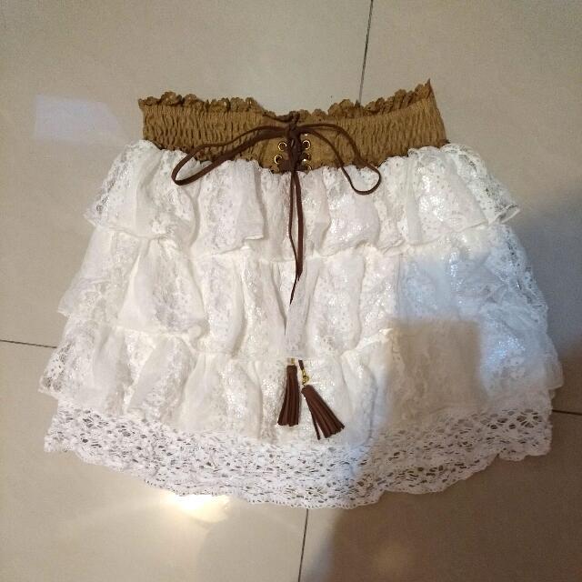 Mussa蛋糕蕾絲裙(內裡短褲)