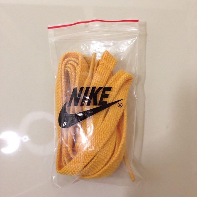贈!Nike 寬版黃色鞋帶