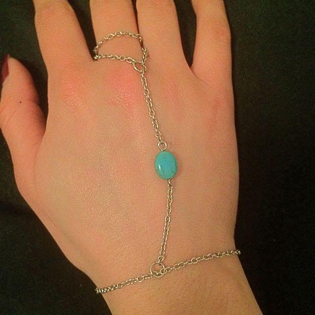 Ring Bracelet With Turquoise Stone