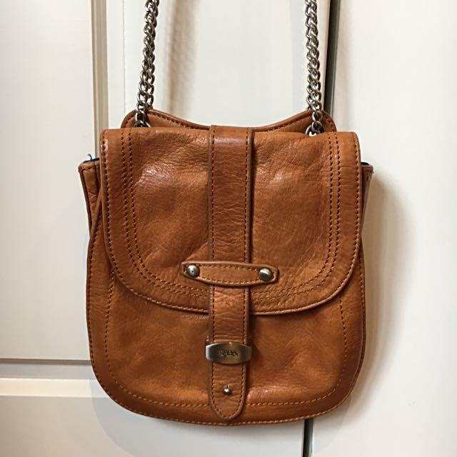 Saba Tan Brown Saddle Bag