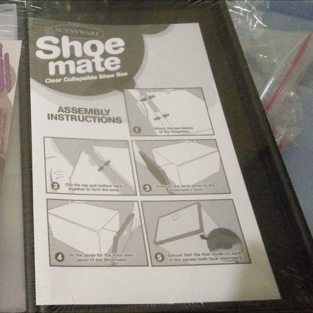 SHOEMATE Clear Collapsible and Stackable Shoe box