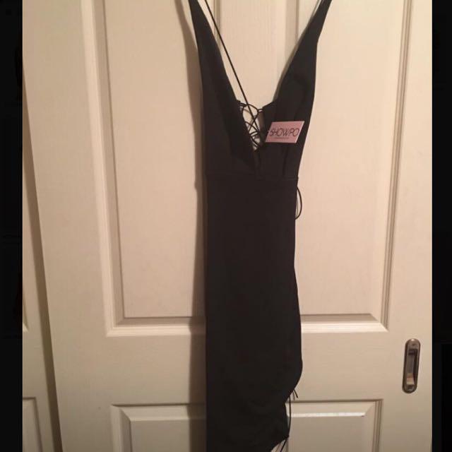 Showpo Black Strappy Dress