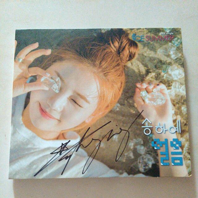 Signed CD Song Ha Ye