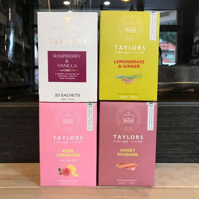 Taylors 泰勒茶 檸檬草薑茶 玫瑰果大黃茶 玫瑰檸檬茶 覆盆子香草茶