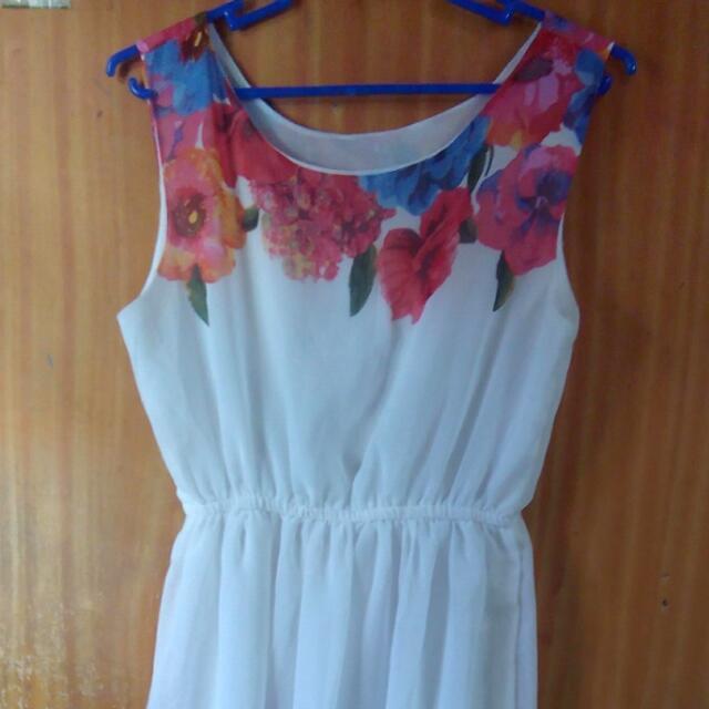 Terranova Floral White Maxi Dress